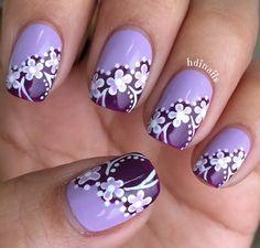Purple Nail Designs, Short Nail Designs, Fingernail Designs, Toe Nail Designs, Purple Nails, Flower Nails, Beautiful Nail Art, Make Your Mark, Short Nails