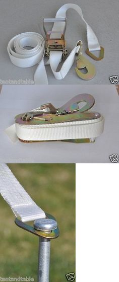 Marquees and Tents 180994 81 X14 Tie Down Ratchet Straps White Canopy Tent Buckle Party Wedding Supplies -u003e BUY IT NOW ONLY $65.52 on eBay! & Marquees and Tents 180994: 81 X14 Tie Down Ratchet Straps White ...