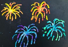 Salt painting is a perfect technique for making fab firework pictures and makes a great bonfire night craft for kids. It's so much fun and produces beautiful, vibrant pictures. Diwali Fireworks, Sparklers Fireworks, Fireworks Art, New Year Fireworks, Bonfire Night Activities, Bonfire Night Crafts, Canada Day, Memorial Day, Happy Birthday Fireworks