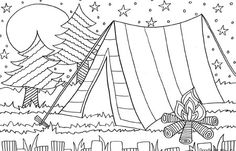Camping Coloring Pages | Free Printable Coloring Pages