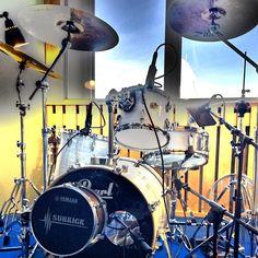 Recording new stuff. Drums: Pearl. Cymbals: Zildijan.