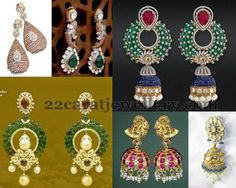 Jewellery Designs: Diamond Jhumkas and Chandbalis