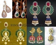 Jewellery Designs: Diamond Jhumkas and Chandbalis