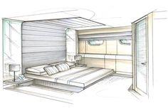 easy interior design sketches gambar perspektif kamar tidur 2 titik hilang perspective