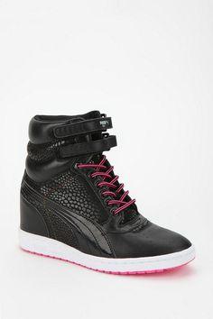 Puma Sky Wedge Animal Print High-Top Sneaker. Gotta have the black too...!
