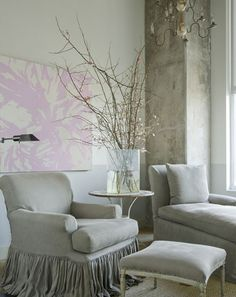 Décor de Provence: Pierce Designs & Associates...  the slipcover, natural linen
