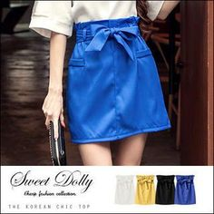 Buy 'Sweet Dolly – Tie-Waist Skirt' with Free International Shipping at YesStyle.com. Browse and shop for thousands of Asian fashion items from Taiwan and more!