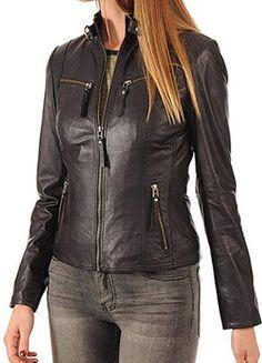 0fc628b6ca2 Kyzer Kraft Women s Leather Jacket Bomber Real Lambskin Leather Motorbike  Jackets