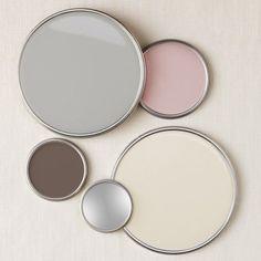 Guía de colores para renovar habitaciones gris y rosa paleta de colores