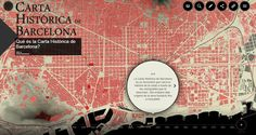 Partial screen capture of the interactive map Historical map of Barcelona
