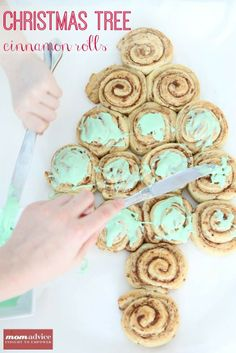 Easy Christmas Tree Cinnamon Rolls from MomAdvice.com.