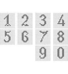 Tiny Cross Stitch, Cross Stitch Alphabet, Cross Stitching, Cross Stitch Embroidery, Cross Stitch Patterns, Custom Fishing Rods, Cross Stitch Numbers, Embroidery Alphabet, Simple Embroidery