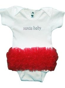 Baby's First Christmas - all it needs is leg warmers!!