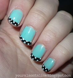 designs for mint green nails - Google Search