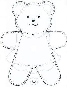 Dibujo de oso de peluche:                                                                                                                                                     More