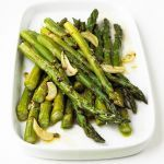 Garlic-Roasted Asparagus Recipe Side Dishes with asparagus spears, garlic, olive oil, salt, ground black pepper. Can drizzle with balsamic at the very end. How To Cook Asparagus, Asparagus Recipe, Roast Asparagus, Asparagus Spears, Fresh Asparagus, How To Season Asparagus, Asparagus Salad, Side Dish Recipes, Vegetable Recipes
