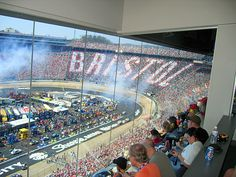 We sat in the row under the 'S'. This is my favorite track. Chattanooga Attractions, Bristol Tennessee, Race Tracks, Kyle Busch, Nascar Racing, Vacation Spots, Memphis, Nashville