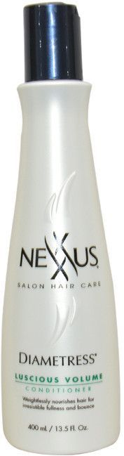 DIAMETRESS VOLUMIZING SYSTEM SHAMPOO AND CONDITIONER, NEXXUS, $13 EACH AT DRUG STORE Fine-haired girls, listen up! If you want to create the feeling of thicker strands, shampoo and conditioner with this dynamic duo. It literally builds up every strand's thickness, so your hair feels super full!