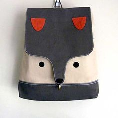 Backpack The Fantastic Fox UNISEX BackPack di littleoddforest Fantastic Fox, Diy Sac, Bunny Face, Cool Backpacks, Girls Bags, Cute Kids, Kids Toys, Purses And Bags, Little Girls