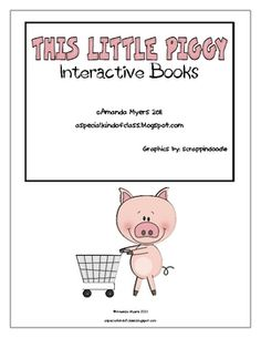 "A set of three easy readers for the poem ""This Little Piggie"". They all contain the same story but two of them are interactive. The first one is a regular book with easy repetitive text. The second book has interactive pieces. Children read the sentence and put the correct picture on the page."