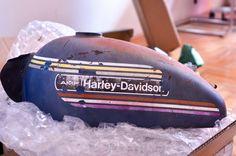 Harley, vintage, harley 1970, tank motorcycle