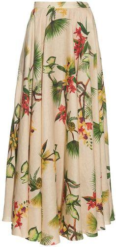 Vestidos Fashion, Long Skirts For Women, Printed Linen, Clothes Women, Floral Maxi, Separates, Blouse Designs, Divas, Sewing