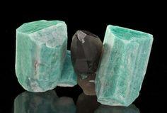 Microcline, var Amazonite & Smoky Quartz from Smoky Hawk Claim, Crystal Peak Area, Teller County, Colorado