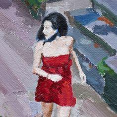 A #woman #running away in the garden. 2014.