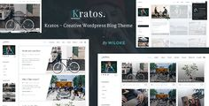 Kratos - Creative WordPress Blog Theme