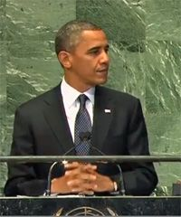Obama at the U.N.: Pretty Words, Distorted Pictures, Veiled Threats | The Progressive