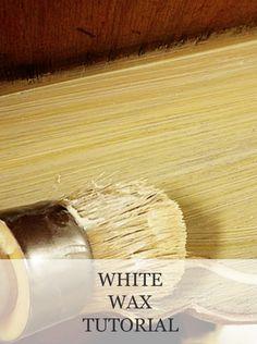White Wax Tutorial | www.missmustardseed.com