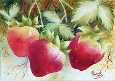 Peinture - medium Aquarelle - Gaétane Lessard L'art Du Fruit, Fruit Art, Galerie D'art, Les Oeuvres, Watercolor Paintings, Google, Vegetables, Photos, Painting On Fabric