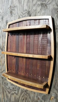 Hey, I found this really awesome Etsy listing at https://www.etsy.com/listing/250037821/wine-stave-shelf-made-from-wine-barrel