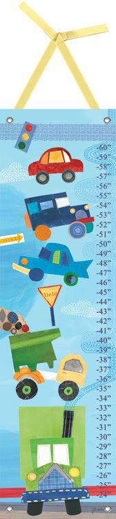 On the Road Growth Chart by Oopsy daisy #sweetretreatkids #growthchart #carart