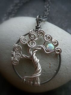 Opal Tree of Life Sterling Silver Necklace.  @James Tocknell