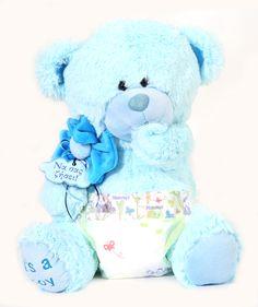 Teddy Bear Sweety 25cm in blue color for babies! #soft #teddy_bear #baby #blue