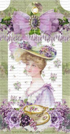 Lilac Ladies & Tea Set 1
