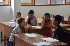 """""""At first when I went I didn't know what I said yes to - I just did it. And I don't regret anything! It has been such a good experience being a volunteer at VP Bali. You get to know the other volunteers so quickly. In school the kids are so interested in getting to know you and are very willing to learn! I didn't have any previous experience with teaching but that's not a problem. The program helps you finding work sheets, games and things to do with your class."""" - Cecilia, Denmark"""