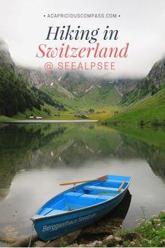 hiking in switzerland seealpsee