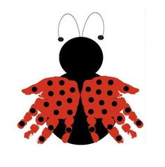 Ladybug Handprint Art - Personalized Baby Nursery, Child's Room, Girls' Room, Mother's Day, Grandparent Gift - DIY and Crafts Kids Crafts, Baby Crafts, Toddler Crafts, Crafts To Do, Preschool Crafts, Hand Kunst, Footprint Crafts, Baby Footprint Art, Ladybug Party