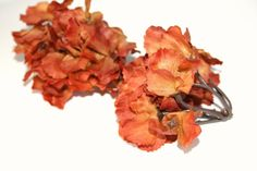 35 Soft Silk Hydrangea Blossoms in Rustic Cinnamon by simplyserra, $4.25