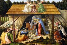 Botticelli. Mystic Nativity. 1500. detail