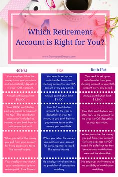 3 Easy Steps to the Retirement of Your Dreams Which retirement account is right for you? Learn the basics of retirement accounts and open your account today with this step-by-step guide! Retirement Savings Plan, Retirement Accounts, Early Retirement, Retirement Planning, Financial Planning, Financial Budget, Retirement Cards, Planning Budget, Budgeting Finances