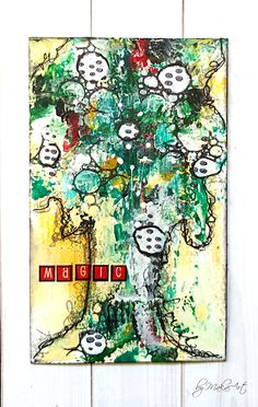 """My ICAD (index card) - day 26 Welcome again!      Here I am with my next group of mixed media index cards for  ICAD Challenge 2017 ...         #day 07 - """"alliter..."""