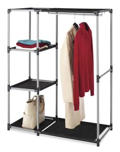 Dorm storage for clothes is tough in a college dorm. Get more dorm closet storage for clothes with dorm closet organizers. College dorm space savers and organizers are also college essentials. Cheap dorm supplies will help with dorm clothes storage.