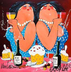 El van Leersum - Enjoy life - zeefdruk / silkscreen #plezier #fun