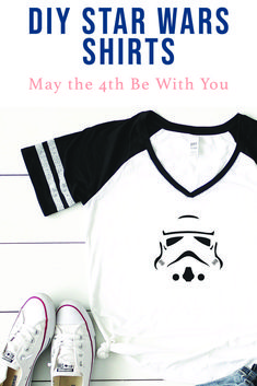 Celebrate Star Wars Day and your love for the Galaxy with these simple DIY Star Wars Shirts from Everyday Party Magazine #CricutMade #Cricut #StarWars #MayTheFourth #Disney #DIY