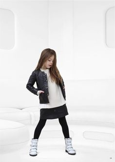 Urban style leather jacket for kidswear fall 2014 from Little Remix