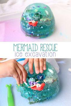 Mermaid Rescue Ice Excavation | Mama.Papa.Bubba.