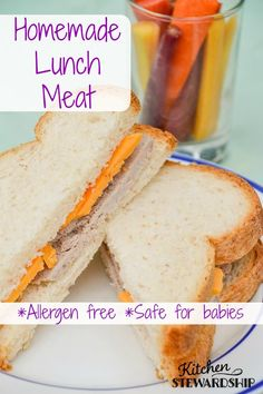 Homemade Lunch Meat {Easy, Simple and Allergy-Friendly}. Homemade lunch meat is the perfect school lunch solution. Use it on sandwiches, with crackers or eat it plain. Everyone from babies to adults will love it. http://www.kitchenstewardship.com/2015/08/05/homemade-lunch-meat-recipe/
